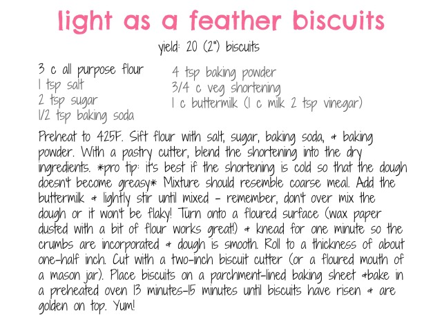 biscuit recipe card
