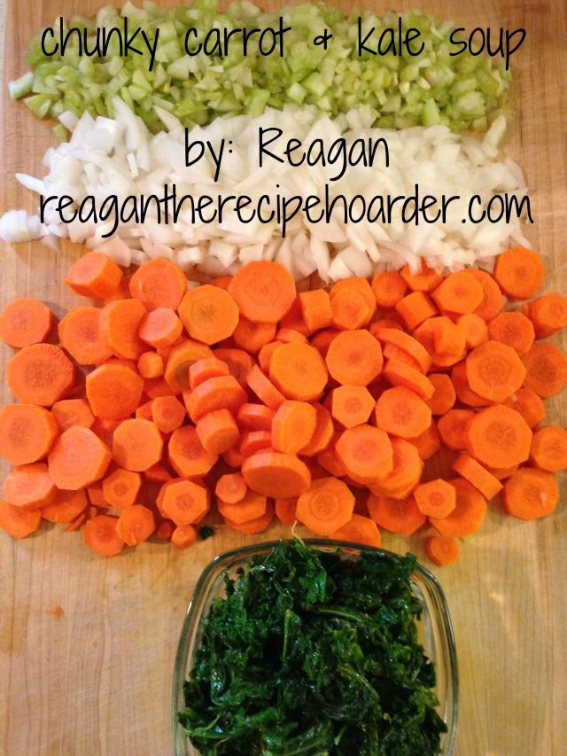 chunky carrot & kale soup | reagantherecipehoarder.com
