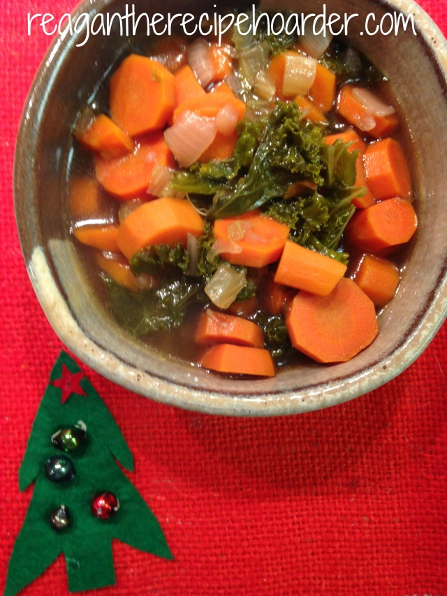 chunky carrot & kale soup | reagantherecipehoarder.com