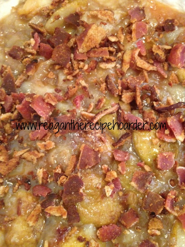 caramelized pear & crumbled bacon tart | reagantherecipehoarder.com