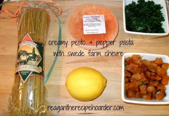creamy pesto & pepper pasta   reagantherecipehoarder.com