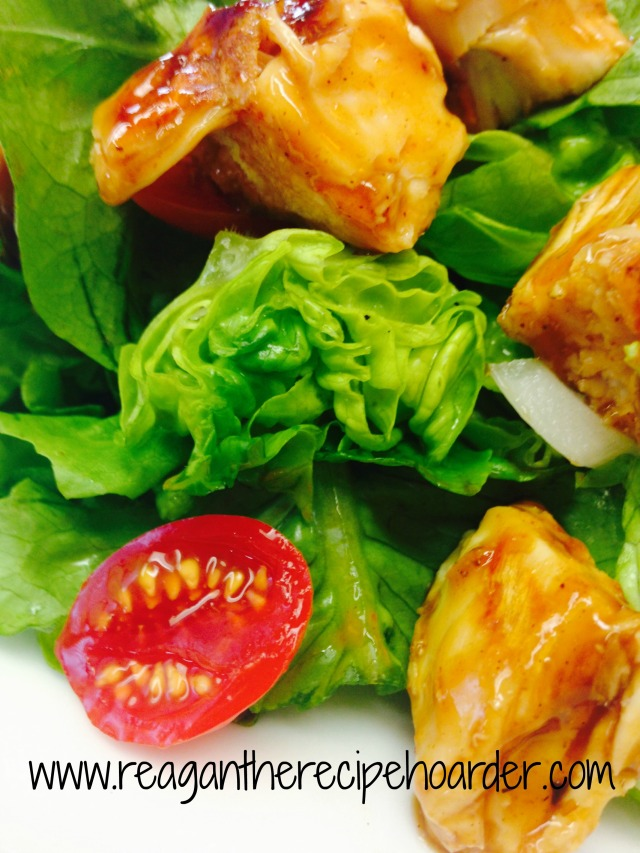 butter lettuce & bbq chicken salad for one | reagantherecipehoarder.com
