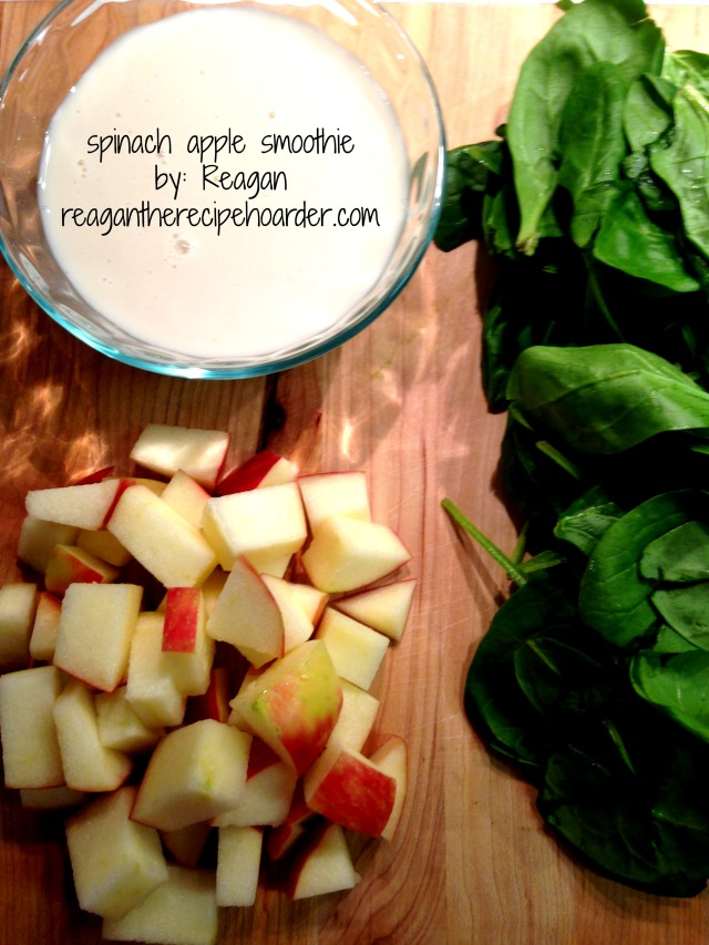 spinach apple smoothie | reaganthrecipehoarder.com