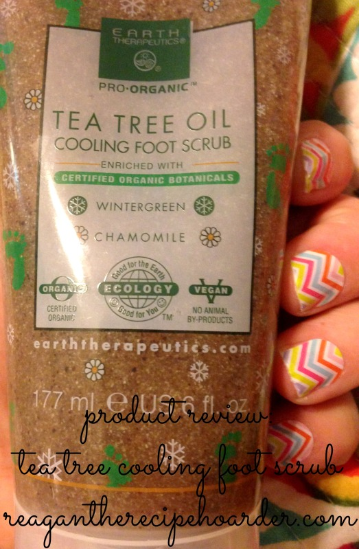 product review: tea tree cooling foot scrub | reagantherecipehoarder.com
